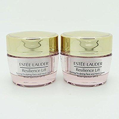 lot 2 x estee lauder resilience lift firming/sculpting face & neck creme, 0.5 oz each