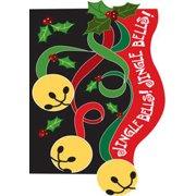 "Jingle Bells Christmas Ribbon House Flag 28"" x 40"""