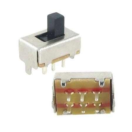 5xDC 50V 0.5A Double Pole Double Throw 2 Position 2P2T DPDT Slide Switch 6 Pin (Double Pole Double Throw Dpdt)