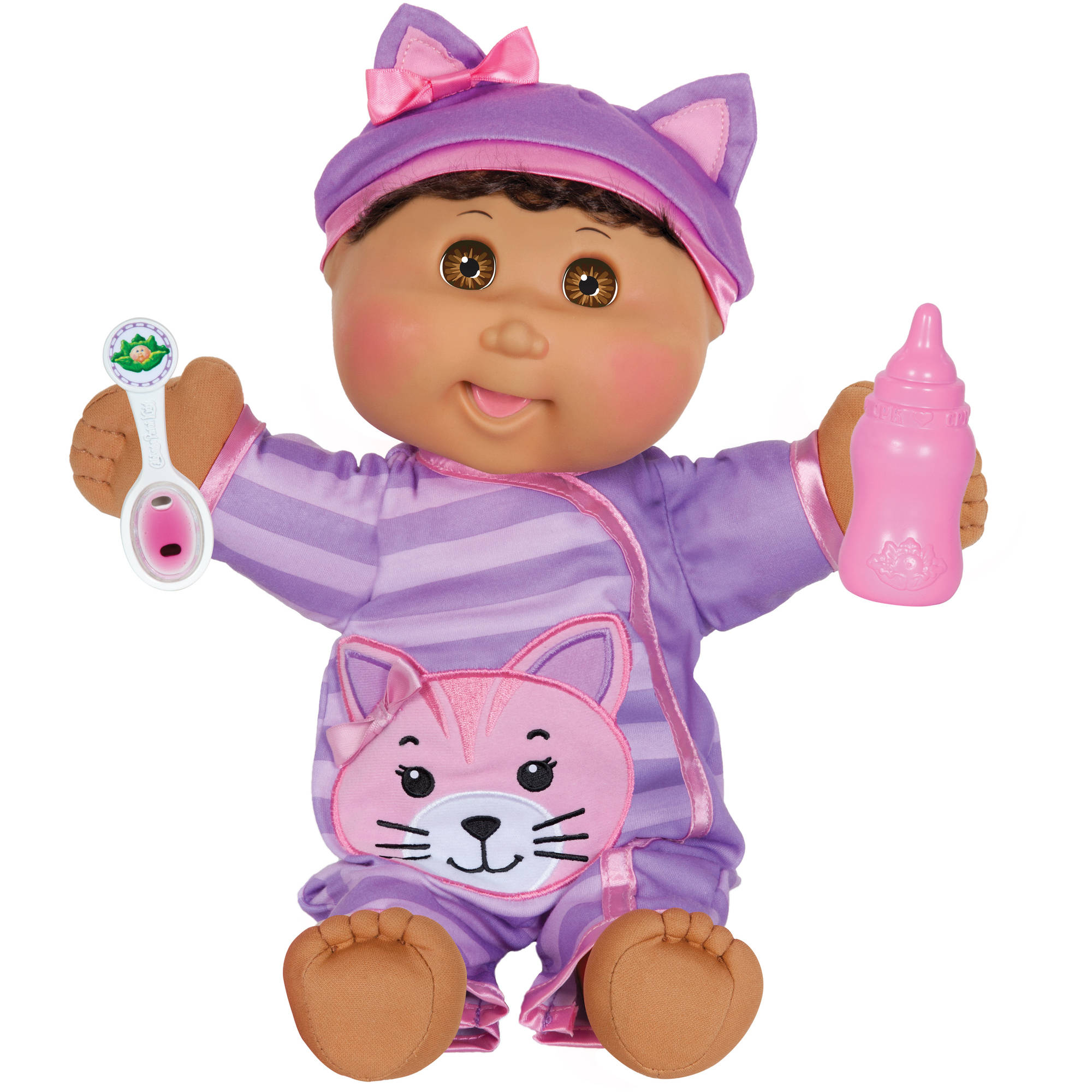 """Cabbage Patch Kids 14"""" Baby So Real Doll, Dark Hair/Brown Eye Girl"""