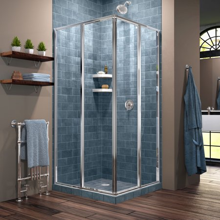 DreamLine Cornerview 34 1/2 in. D x 34 1/2 in. W x 72 in. H Framed Sliding Shower Enclosure in Chrome