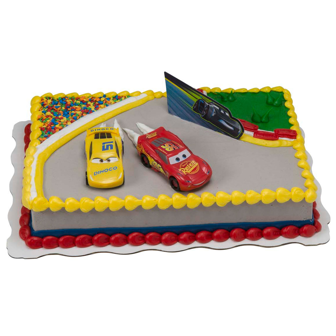 Groovy Cars 3 Ahead Of The Curve Kit Cake Walmart Com Walmart Com Birthday Cards Printable Opercafe Filternl