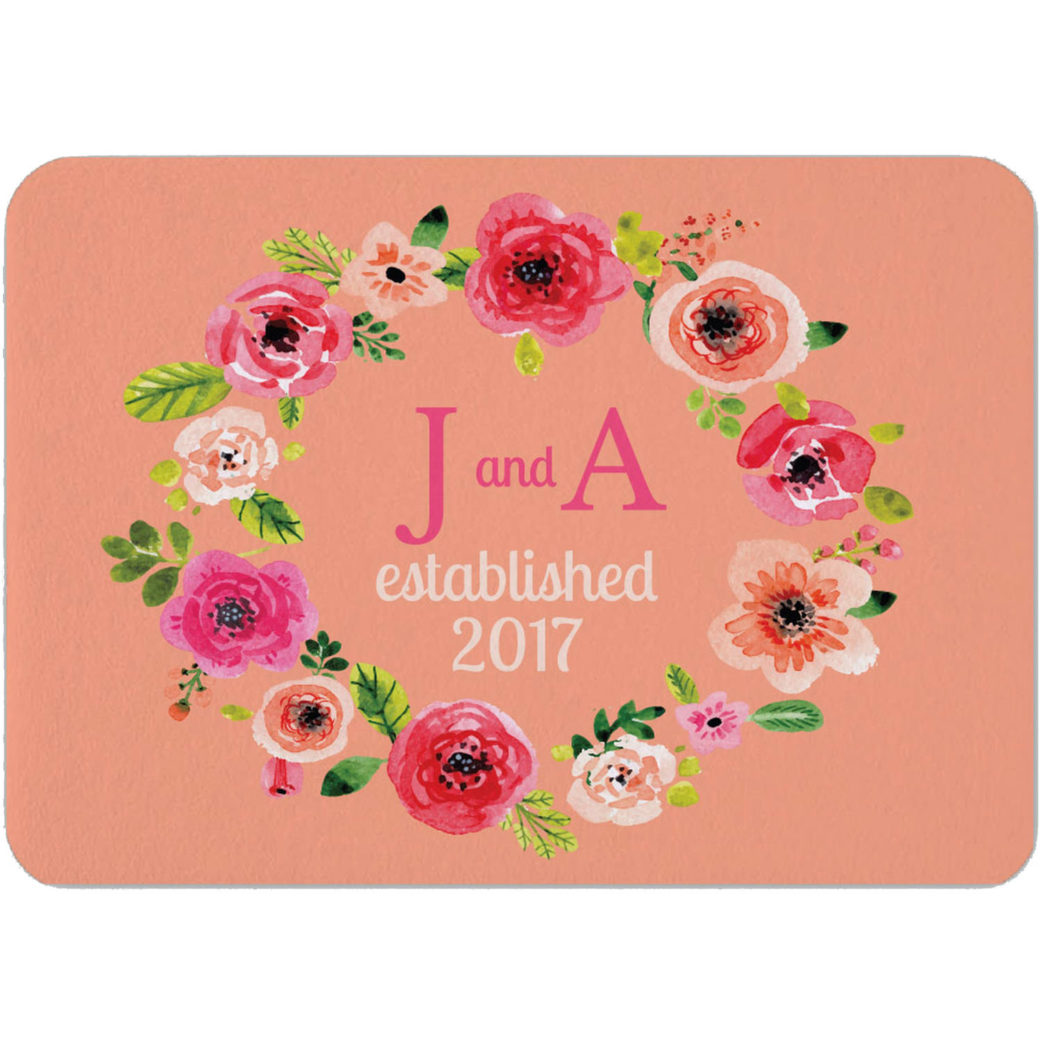"Personalized Rose Indoor Floor Mat , 26.5"" x 17.5"""