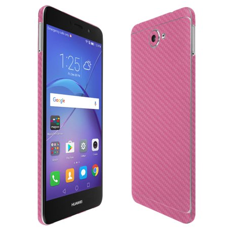 Skinomi TechSkin Pink Carbon Fiber & Screen Protector for Huawei Ascend