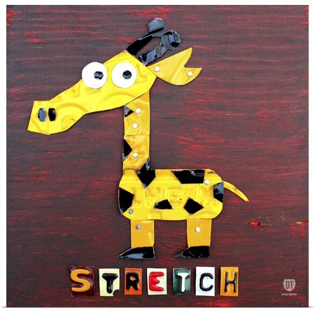 Stretched Canvas Poster - Great BIG Canvas | Rolled David Bowman Poster Print entitled Stretch the Giraffe