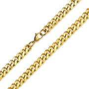 Mens Strong 10MM Gold Plated Silver Tone Stainless Steel Miami Curb Cuban Chain Necklace For Men For Teen 24 30 Inch