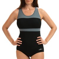 Dolfin Aquashape Women's Color Block Conservative Lap Swimsuit in Multiple Colors and Sizes