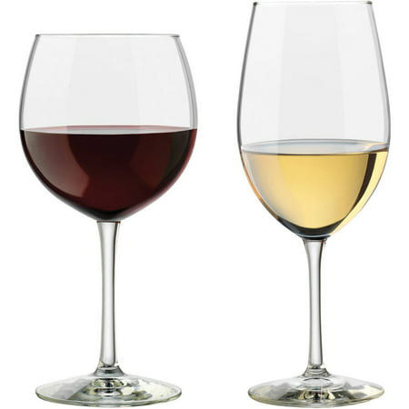 Libbey Vineyard Assorted Clear Wine Glasses, Set of -