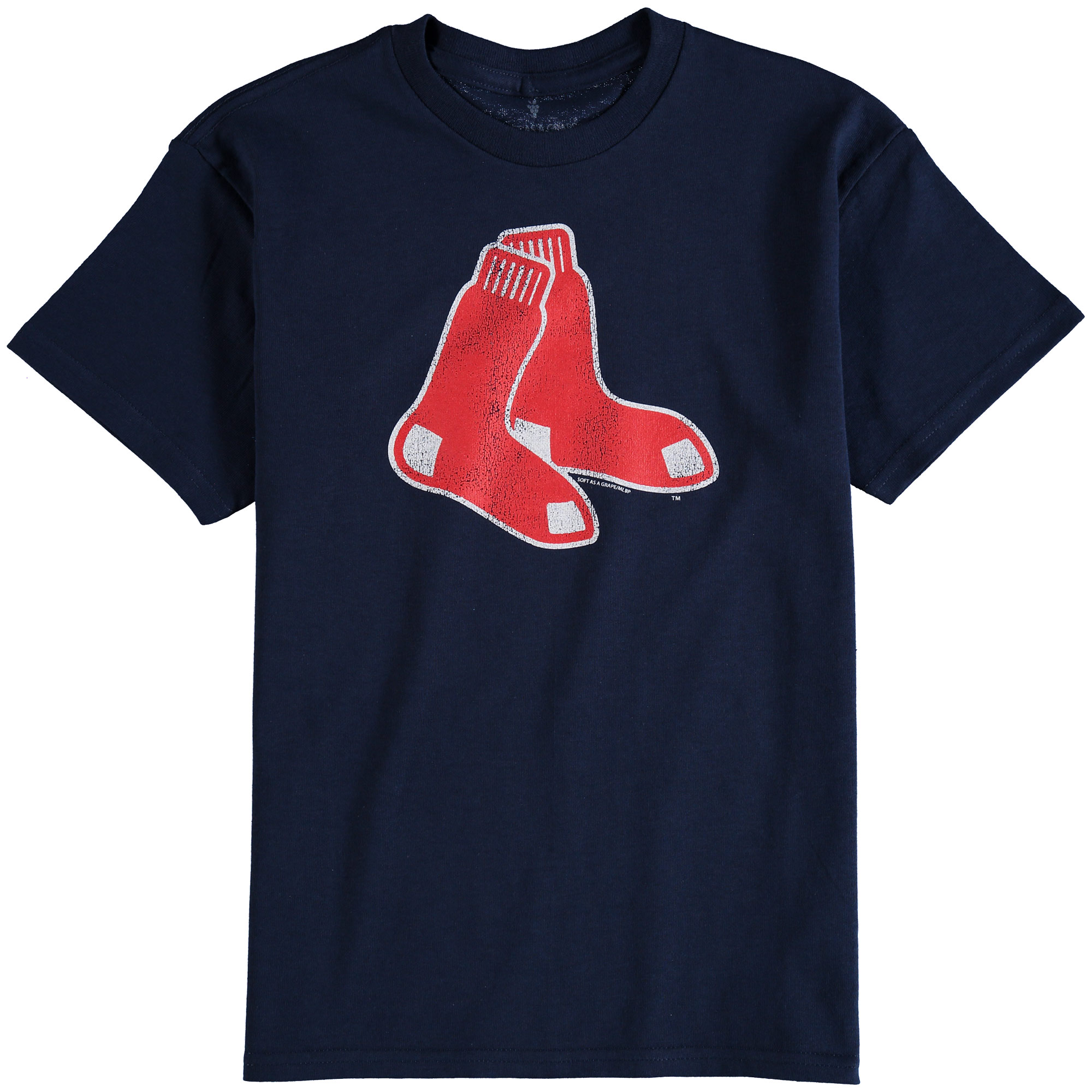 Boston Red Sox Youth Distressed Logo T-Shirt - Navy Blue