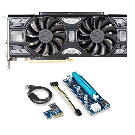 Evga Geforce Gtx 1070 Bundle  Evga Geforce Gtx 1070 Sc Gaming Acx 3 0 Black Edition Directx 12 8Gb Gddr5  08G P4 5173 Kr And Riser For Crypto Coin Eth Ethereum Zcash Zec Bitcoin