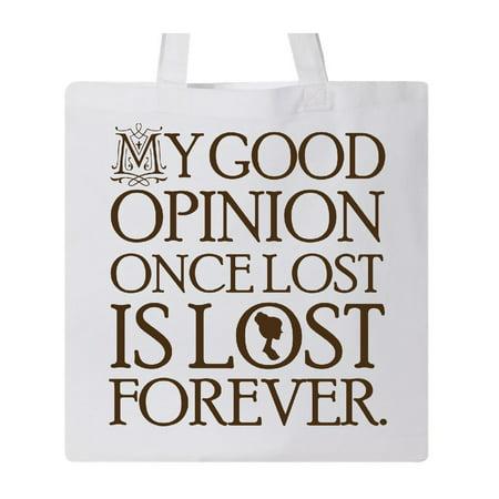 714cca3bacec Jane Austen Good Opinion Tote Bag - Walmart.com