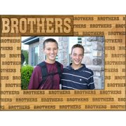 Giftworks Plus FAM5026 Brothers - Repeating, Alder Wood Frame, 8 x 10 In