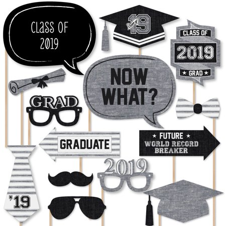 All Star Grad 2019 Graduation Photo Booth Props Kit 20 Count