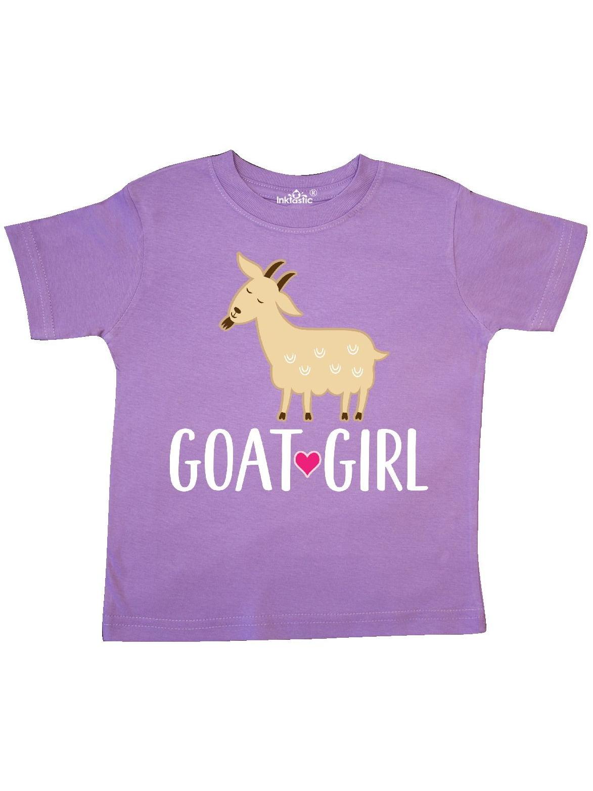 Goat Girl Farm Animal Toddler T-Shirt
