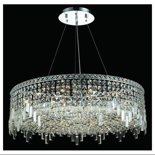 Maxim Clear Crystal Chandelier w 18 Lights in Chrome (Royal Cut)