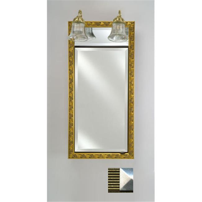 Afina Corporation SD-LT2440RMERGS 24 in.x 40 in.Traditional Integral Lighted Single Door- Meridian Gold-Silver