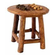 Round Rustic Game Table In Teak