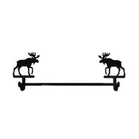 Village Wrought Iron TB-19-S Moose - Towel Bar Small