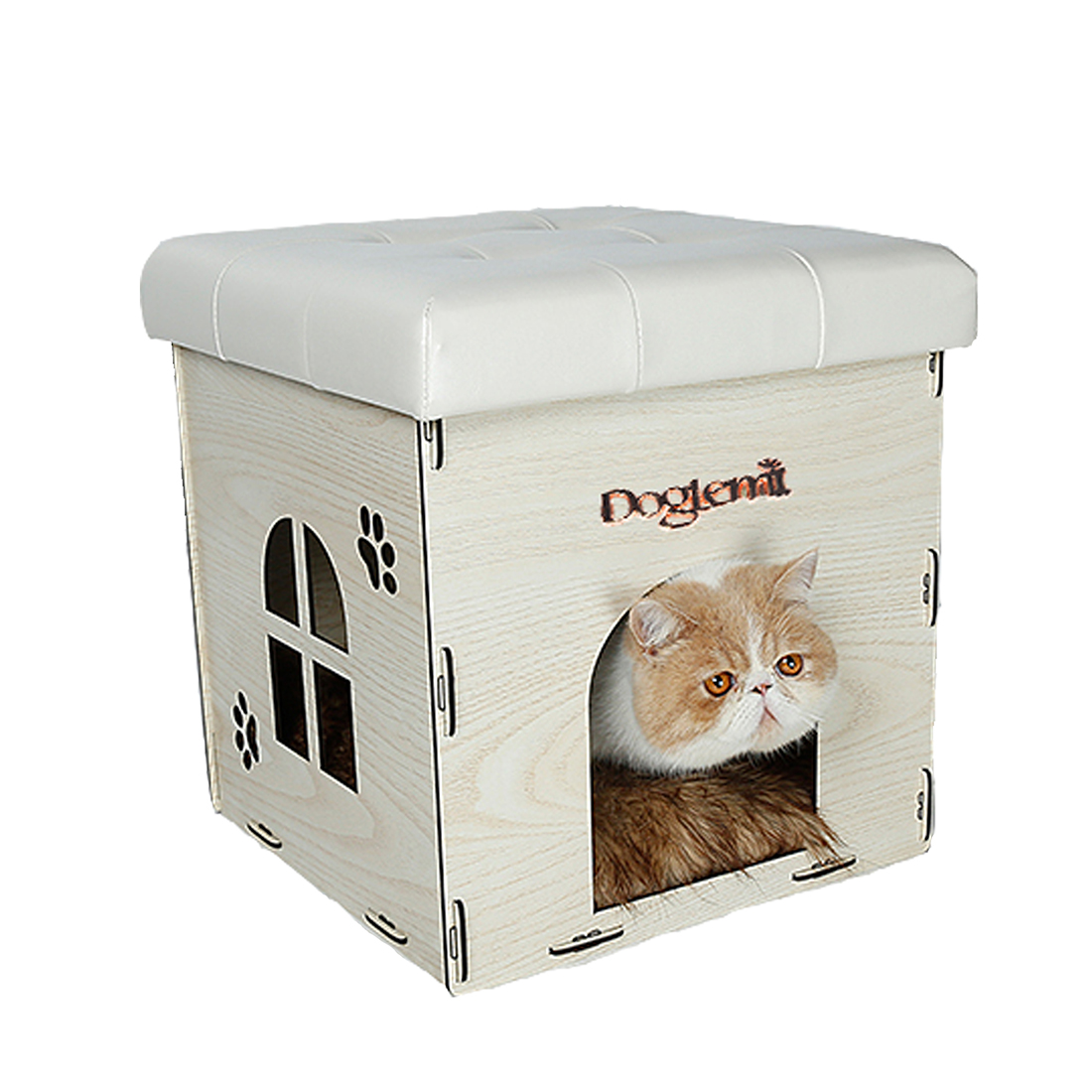 Attractive Soft Cat House Ottoman Multi Function Home Chair Detachable Puppy Dog Pet  Bed Furniture White DOGLEMI Authorized   Walmart.com