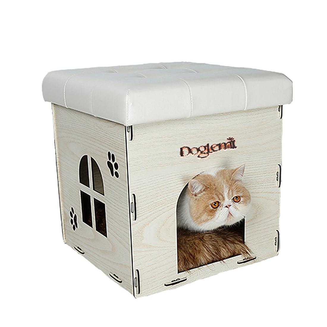 Soft Cat House Ottoman Multi-Function Home Chair Detachab...