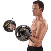 Gold's Gym 50 lb Olympic Grip Weight Plate Set