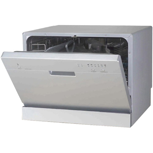 Sunpentown Countertop Dishwasher, 2200 Series, Silver