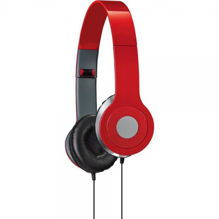 iLive iAH54R Over-the-Ear DJ Headphones, Red