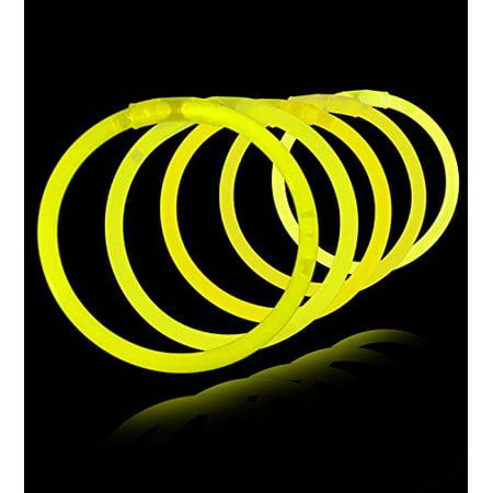 8 Glow Stick Bracelets, Yellow, 500 ct](Bulk Glow Bracelets)