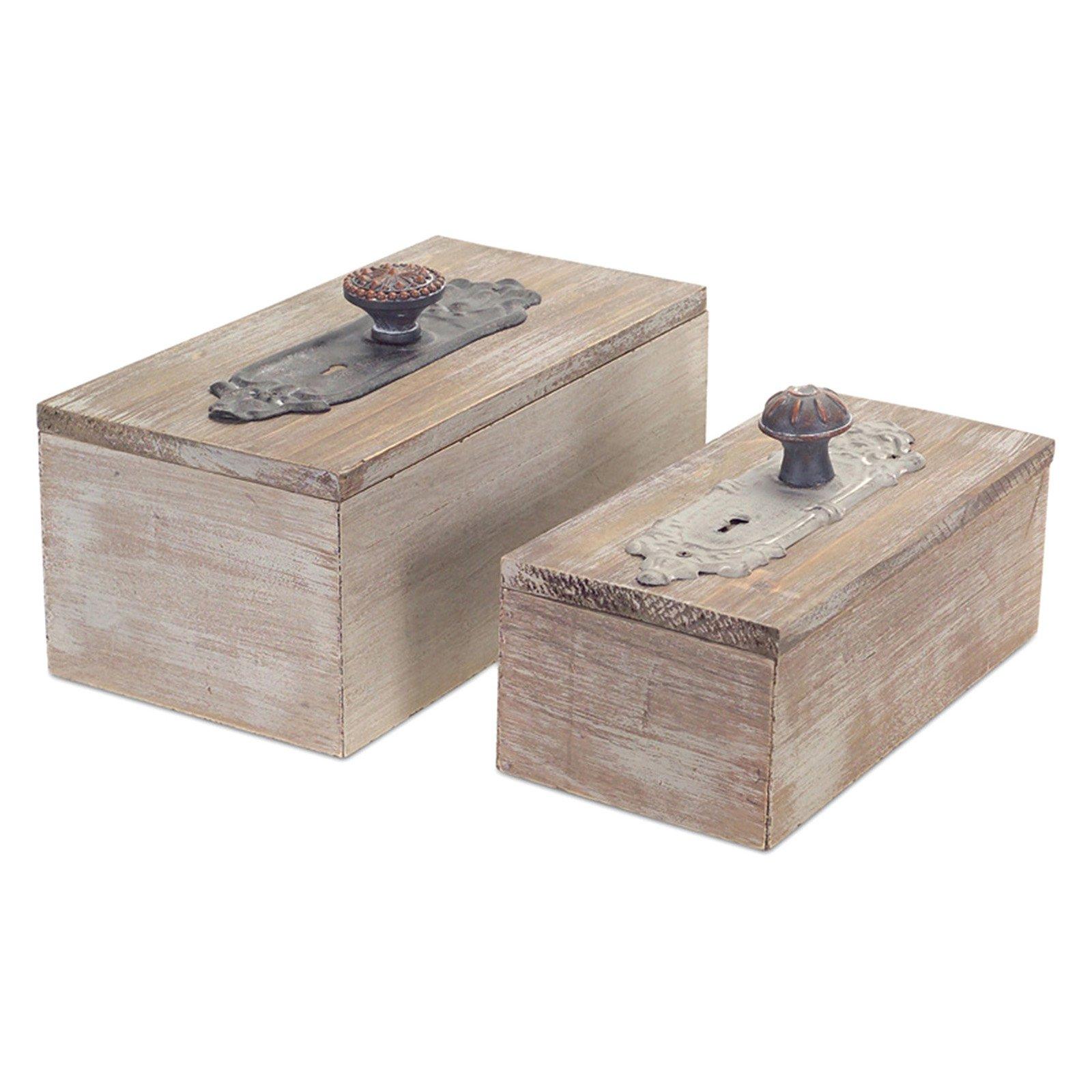 Melrose International Door Knob Box - Set of 2