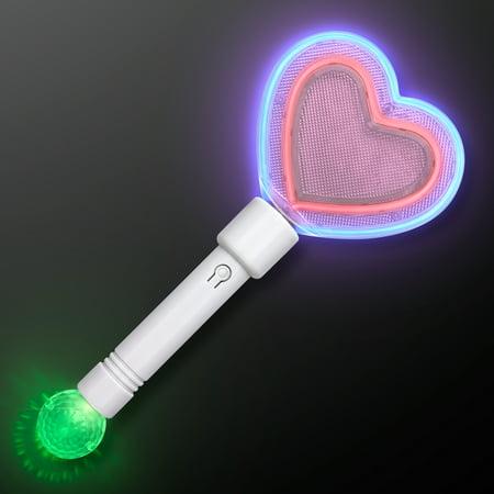 FlashingBlinkyLights Flashing Light Up Heart Rave Toy - Queen Of Hearts Wand