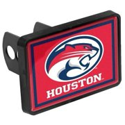Houston Cougars Universal Plastic Hitch Cover Fits 1-1/4 or 2 Inch Auto Car Truck Receiver with NCAA College Sports Logo