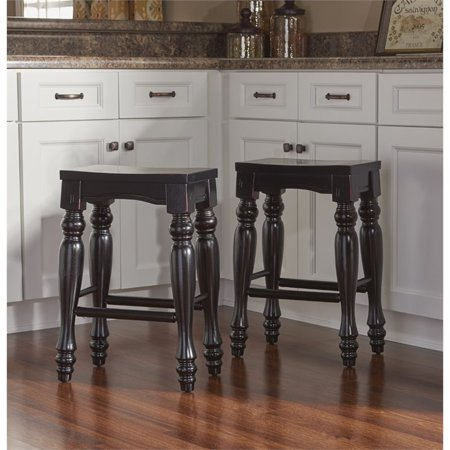 Powell Pennfield Kitchen Island Counter Stool, Set of 2, Black