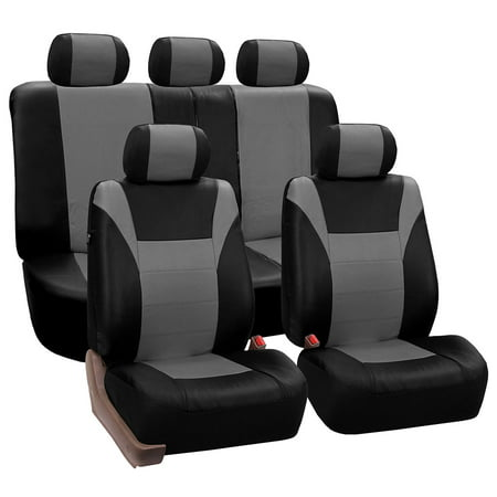 Fh Group Gray And Black Racing Faux Leather Airbag