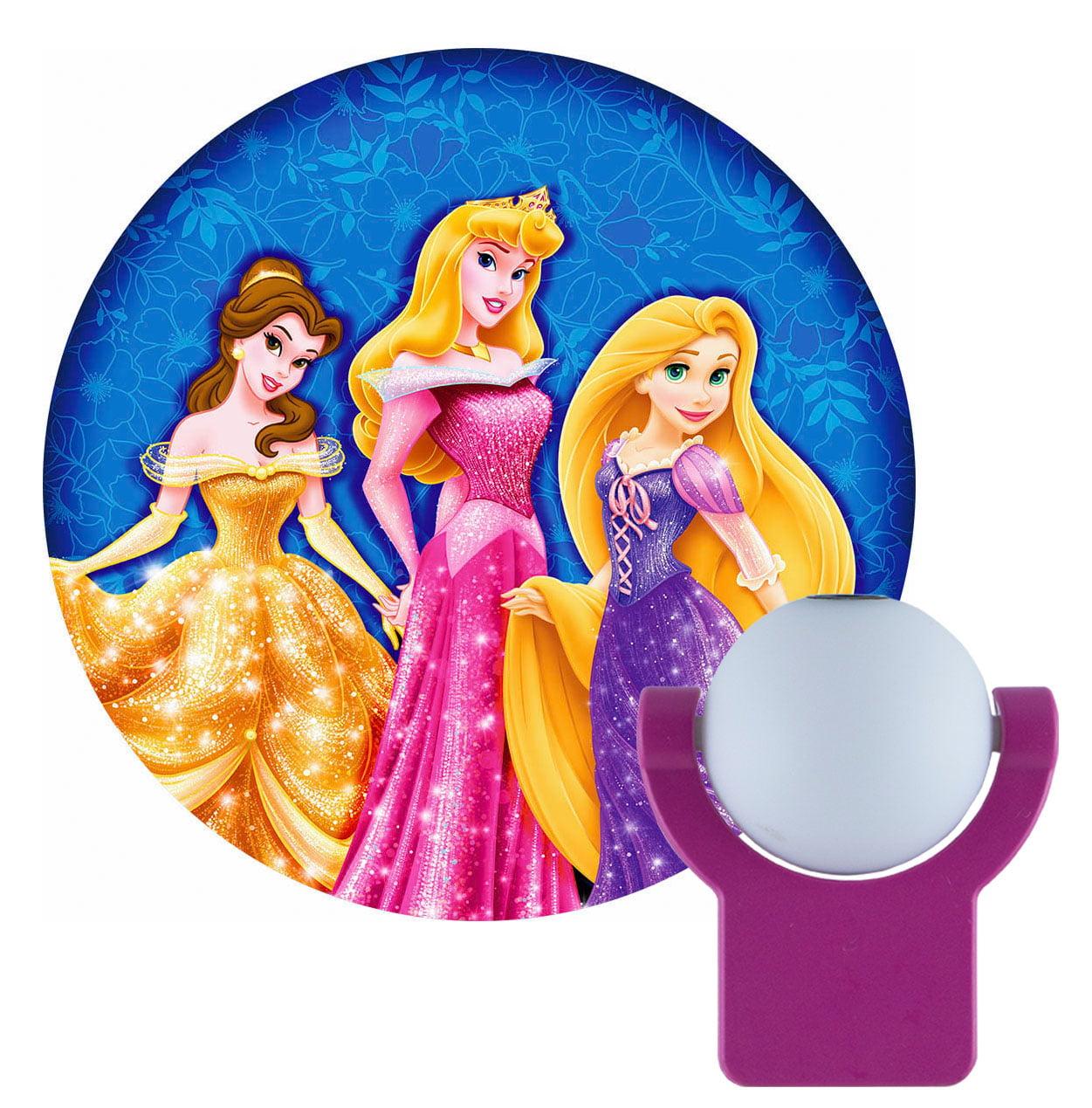 Projectables Disney Princesses LED Plug-In Night Light, Belle, Aurora, and Rapunzel Image, 11744