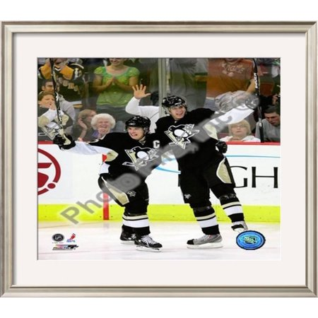 Sidney Crosby &  Evgeni Malkin Framed Photographic Print Wall Art  - 26x30
