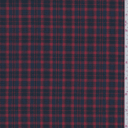 Red/Blue Plaid Shirting, Fabric By the Yard