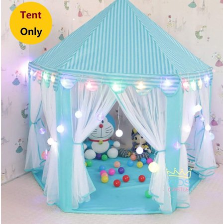 Princess Tent Teepee Castle Girls Large Playhouse - Kids Dream Play Tents with Carry Bag for Children Indoor and Outdoor Games 55'' x 53'' (DxH) - Girl Teepee