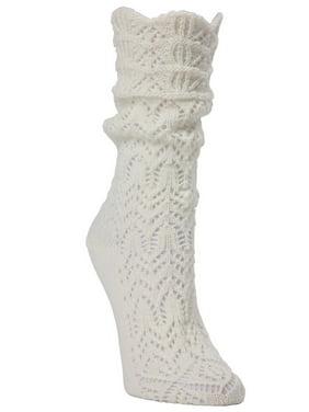 aa84b697c7a Product Image MeMoi Shakar Scalloped Crochet Knit Boot Sock - Cute Winter  Socks by MeMoi One Size 9