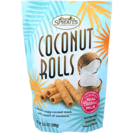Sprouts Coconut Rolls, 3.5 OZ