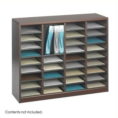 Scranton & Co Mahogany Wood Mail Organizer - 36 Compartments - image 1 de 1