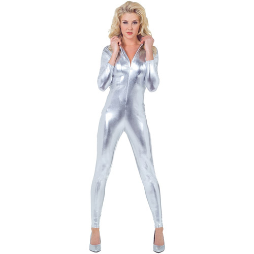 Stretch Silver Adult Halloween Jumpsuit - Walmart.com