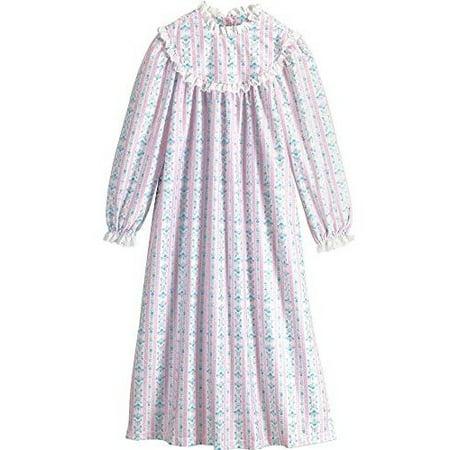Lanz of Salsbury Girls' Toddler Girls Pink Novelty Gown (Lanz Flannel Nightgowns)