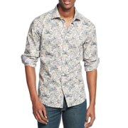 Tallia NEW Gray Taupe Mens Size 5XL Button Down Floral Print Shirt