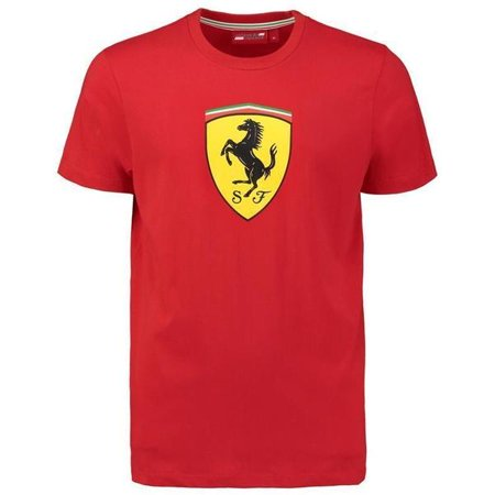 Ferrari Men's Red Classic Crew Neck 2018 T-shirt w/Large Logo (M) ()