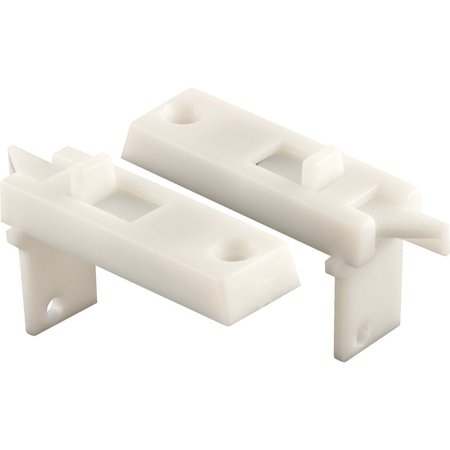 F 2642 Tilt Latch Pair, White Plastic Construction, Spring Loaded, 1-11/16 in. Hole Center, For use on sash panels designed to tilt-in and down from the top for.., By Prime-Line Products