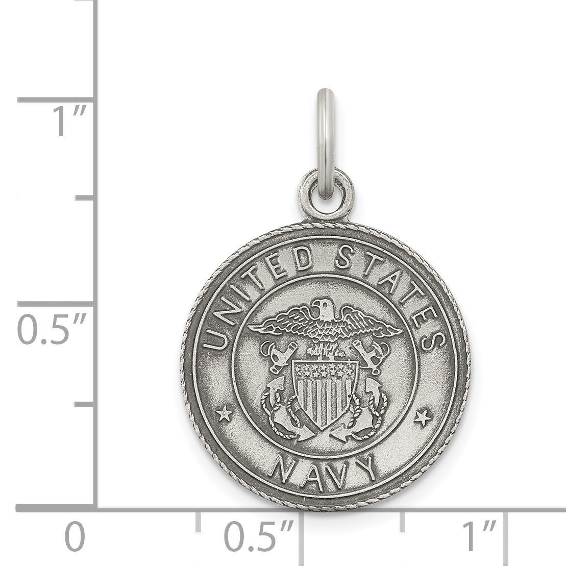 925 Sterling Silver Us Navy Medal Pendant Charm Necklace Military Religious Patron Saint St Christopher Fine Jewelry Gifts For Women For Her - image 1 de 2