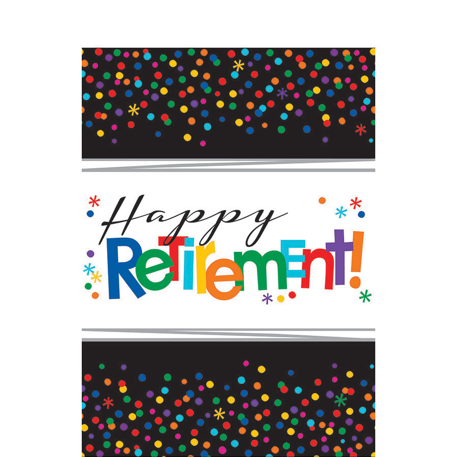 Officially Retired Plastic Table Cover - Party Supplies