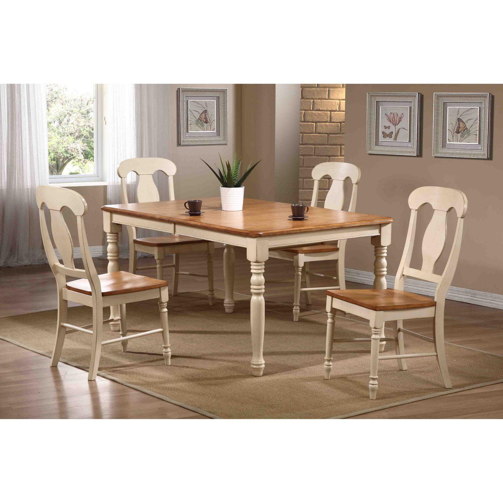 Iconic Furniture 5 Piece Rectangular Dining Set - Caramel / Biscotti