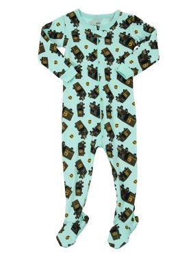 8b07d367b7 Product Image Leveret UPS Truck Footed Pajama Sleeper 100% Cotton Aqua 2  Years