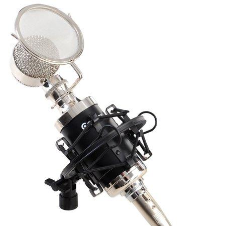 Professional Studio Sound Recording Condenser Microphone w/ Shock Mount
